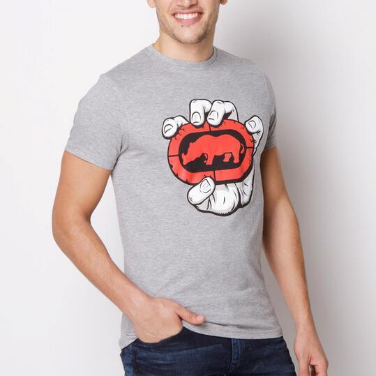 ECKO IN HAND Camiseta Manga Corta Gris Hombre