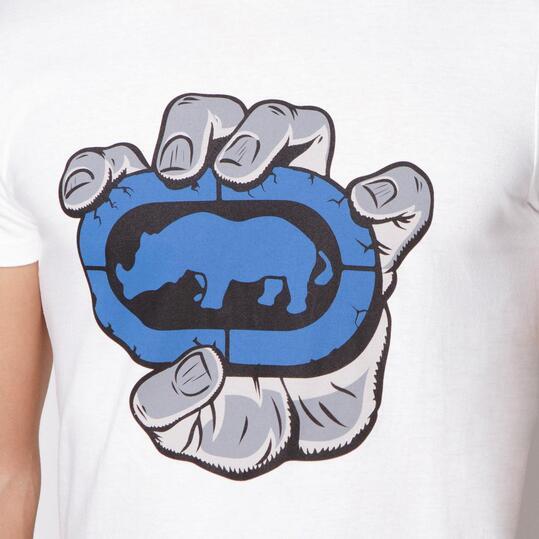 ECKO IN HAND Camiseta Manga Corta Blanco Hombre