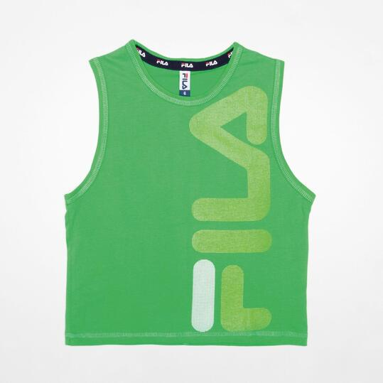 FILA BASIC Camiseta Sin Mangas Verde Niño (2-8)