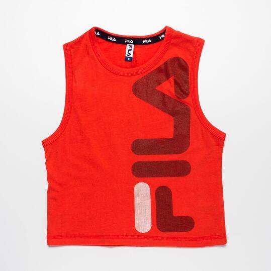 FILA BASIC Camiseta Sin Mangas Rojo Niño (2-8)