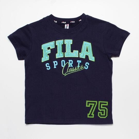 FILA BASIC Camiseta Azul Marino Niño (2-8)