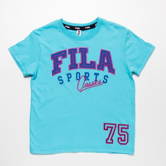 FILA BASIC Camiseta Turquesa Niño (2-8)
