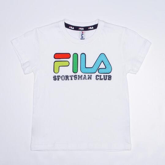 FILA BASIC Camiseta Blanca Niño (2-8)