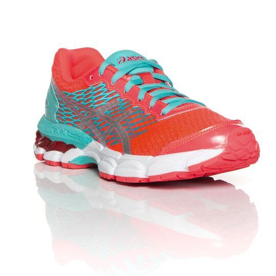 ASICS GEL NIMBUS 18 GS Zapatillas Running Coral Mujer