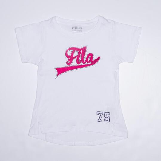 FILA BASIC Camiseta Blanca Niña (2-8)