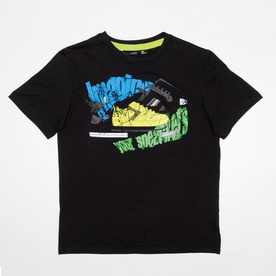 Camiseta Manga Corta SILVER STAMPS Negro Niño (10-16)