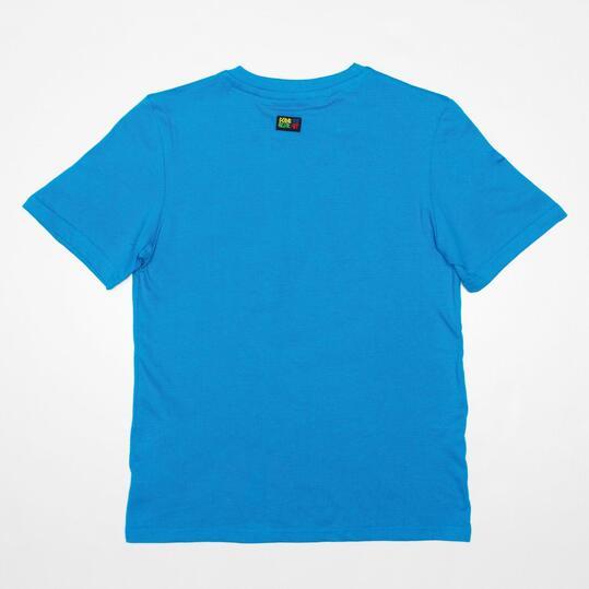 Camiseta Manga Corta SILVER STAMPS Azul Niño (10-16)