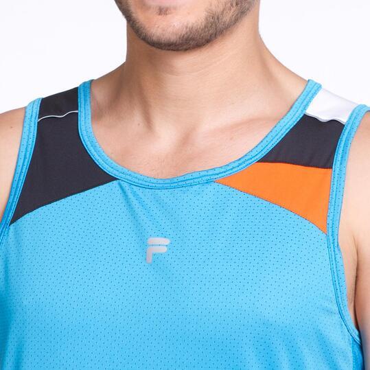 FILA BLAKE Camiseta Tirantes Running Azul Hombre