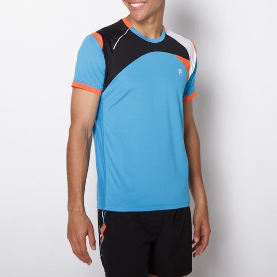 FILA BLAKE Camiseta Running Azul Hombre