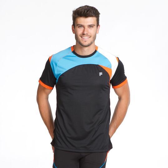 FILA BLAKE Camiseta Running Negro Hombre