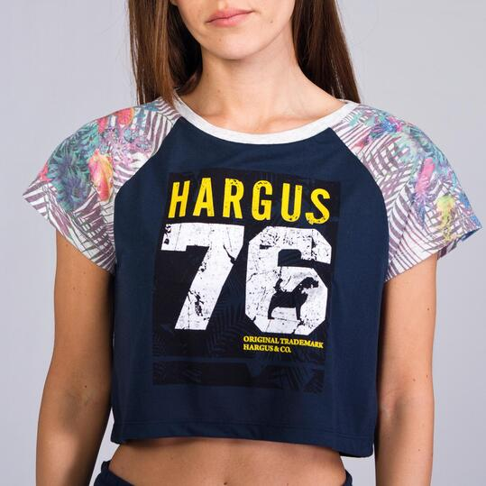 Camiseta Manga Corta HARGUS TROPIC Marino Mujer