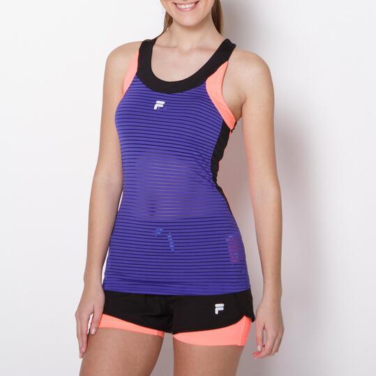 FILA BLAKE Camiseta Running Azul Coral Mujer