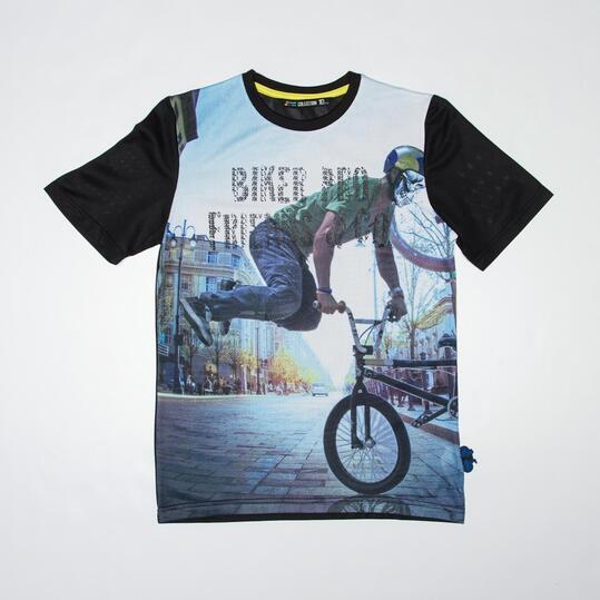 Camiseta Rejilla SILVER CYCLING Negro Niño (10-16)