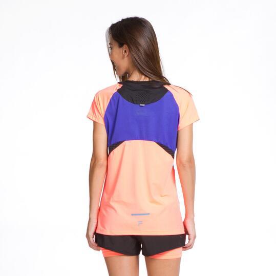 FILA BLAKE Camiseta Running Negro Coral Mujer
