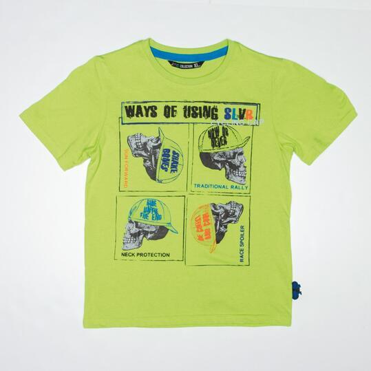 Camiseta SILVER CYCLING Verde Niño (10-16)