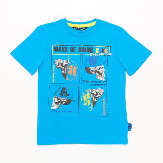 Camiseta Azul SILVER CYCLING Niño (10-16)