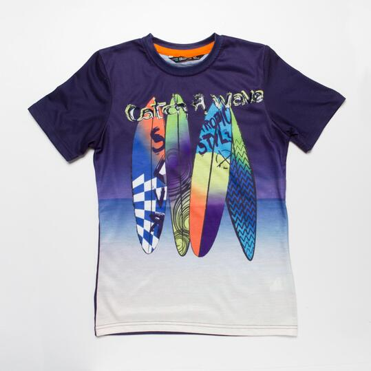 Camiseta Surf SILVER TROPICAL Niño (10-16)