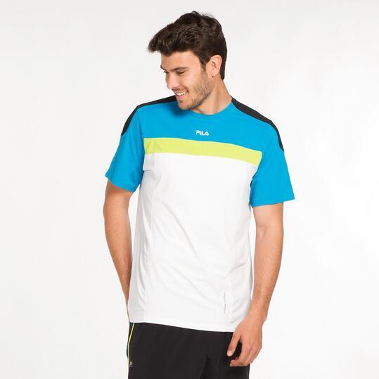 FILA BJORK Camiseta Tenis Blanco Hombre