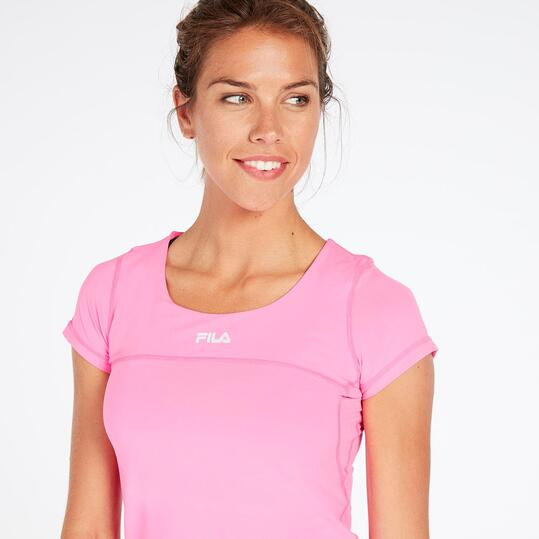FILA BJORK Camiseta Tenis Fucsia Mujer