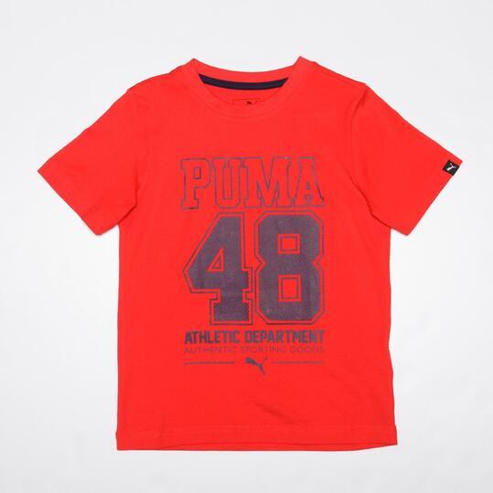 PUMA 48 Camiseta Rojo Niño (6-16)