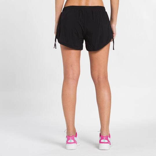 FILA BJORK Pantalón Corto Tenis Negro Rosa Mujer