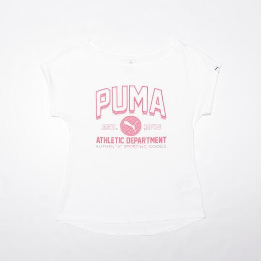 PUMA EXCLUSIVO Camiseta Blanca Niña (8-16)