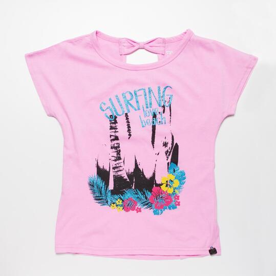 Camiseta Manga Corta SILVER RNR Rosa Niña (10-16)
