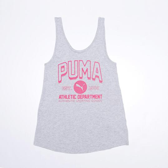 PUMA Camiseta Tirantes Gris Niña (8-16)