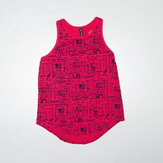 Camiseta Tirantes SILVER LONGBOARD Fucsia Niña (10-16)
