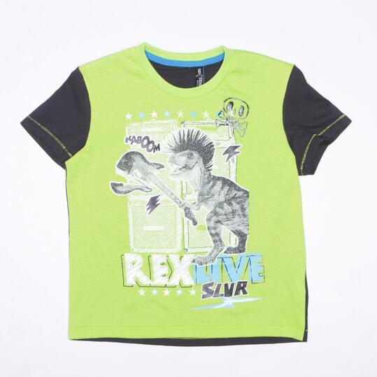 Camiseta Pistacho SILVER STAMPS Niño (2-8)