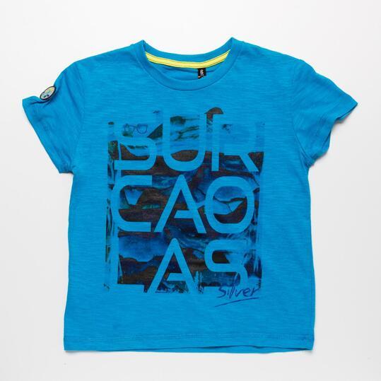 Camiseta Azul SILVER SURCAOLAS Niño (2-8)