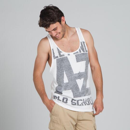 Camiseta Tirantes SILVER Blanca Hombre