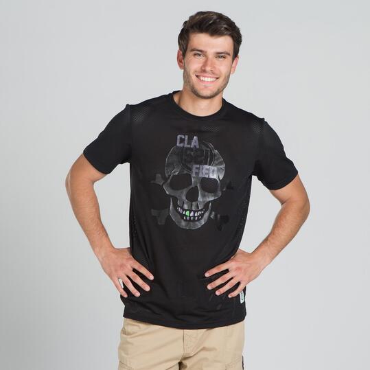 Camiseta Calavera SILVER Negro Hombre