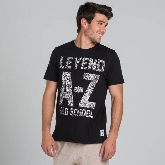 Camiseta Manga Corta SILVER Negro Hombre
