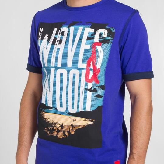 Camiseta Azul SILVER PEOPLE Hombre