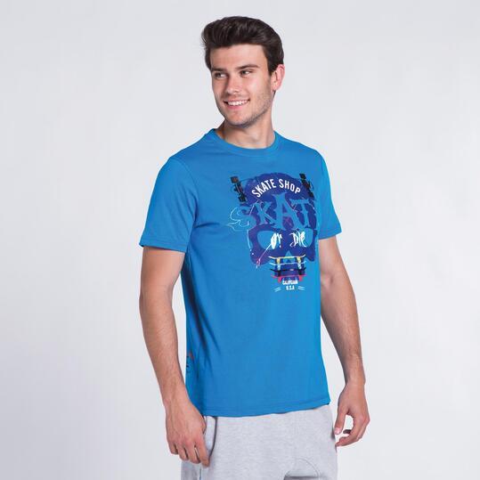Camiseta Azul SILVER COLOR Hombre