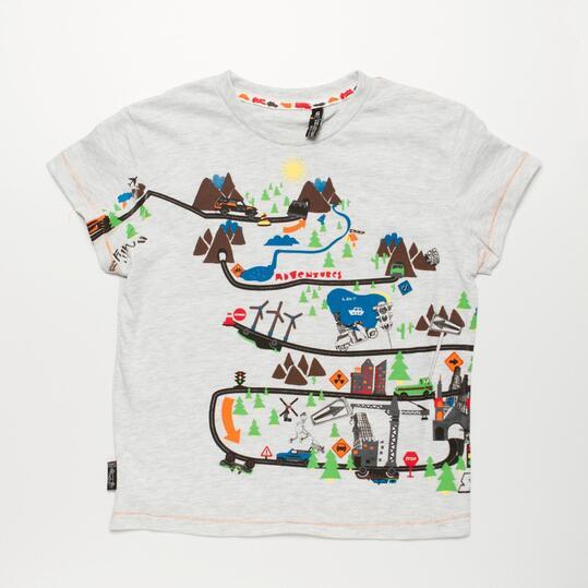 Camiseta Blanca SILVER COCHES Niño (2-8)