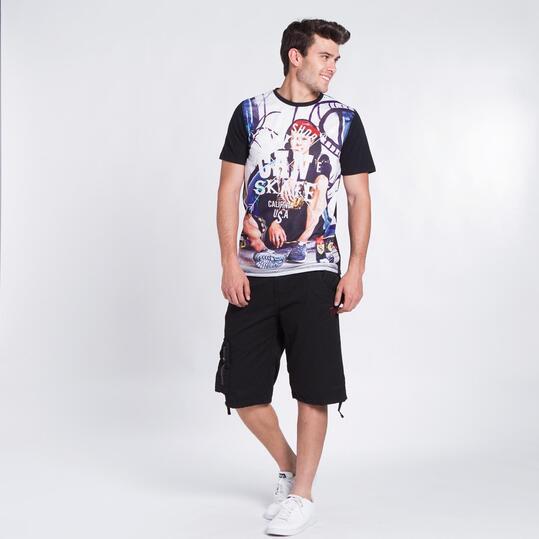 Camiseta Skate SILVER COLOR Hombre