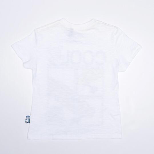 Camiseta Manga Corta SILVER PATINADORES Blanco Niño (2-8)
