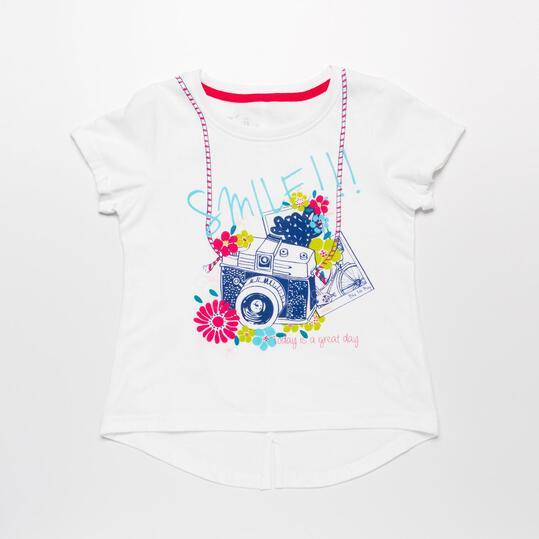 Camiseta Manga Corta SILVER Blanco Niña (2-8)
