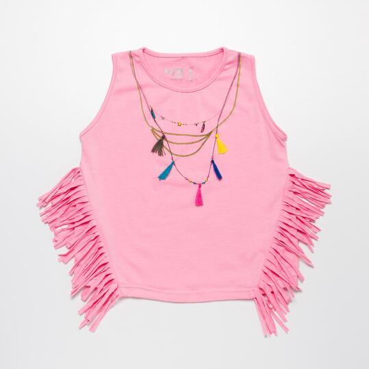 Camiseta Tirantes SILVER ETNIC Rosa Niña (2-8)
