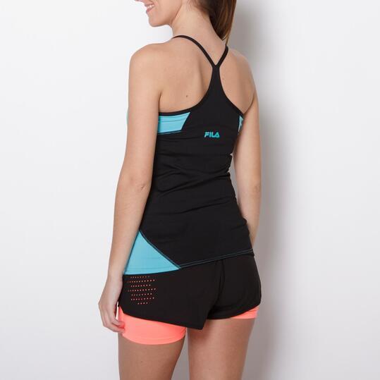 FILA Camiseta Tirantes Fitness Turquesa Mujer