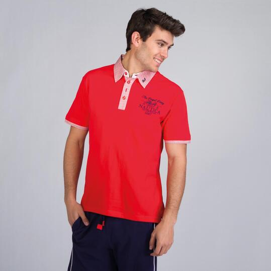 Polo Rojo TRUNK & ROOTS Hombre