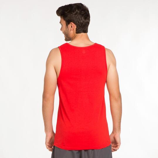 Camiseta Tirante Ancho UP BASIC Rojo Hombre
