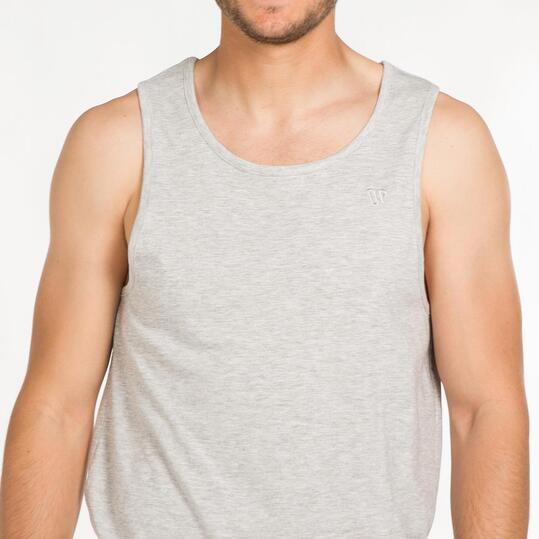 Camiseta Tirante Ancho UP BASIC Gris Hombre