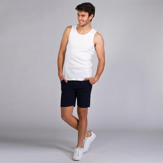 Camiseta Tirante Ancho UP BASIC Blanco Hombre