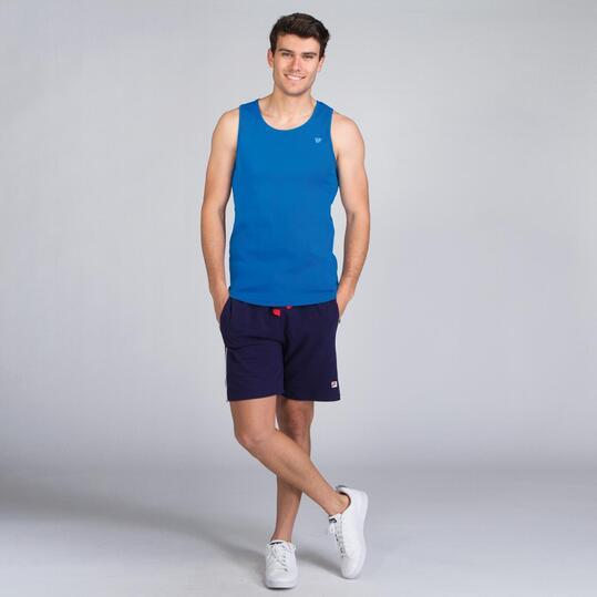Camiseta Tirante Ancho UP BASIC Azul Hombre