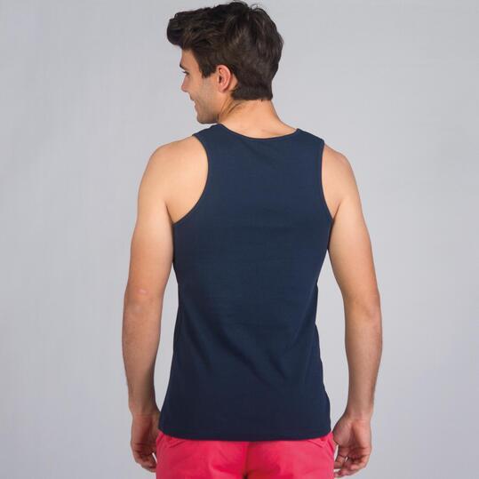 Camiseta Tirante Ancho UP BASIC Marino Hombre