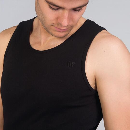 Camiseta Tirante Ancho UP BASIC Negro Hombre