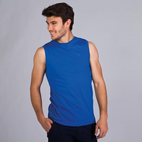 Camiseta Sin Mangas UP BASIC Azul Hombre